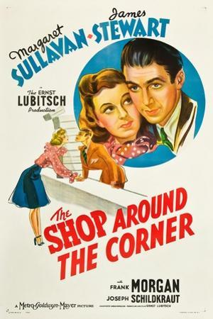 THE SHOP AROUND THE CORNER, from left: Margaret Sullavan, James Stewart, 1940