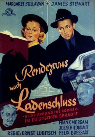 The Shop Around the Corner, German Movie Poster, 1940
