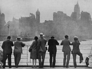 The Skyline of New York as Many First Saw It Arriving by Sea on Board The`Augustus