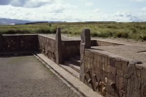 The Small Temple and a Flight of Stairs, Tiahuanaco or Tiwanaku