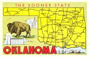 The Sooner State, Oklahoma, Map