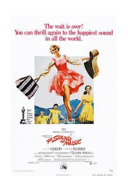 The Sound of Music, Center: Julie Andrews on 1973 Poster Art, 1965