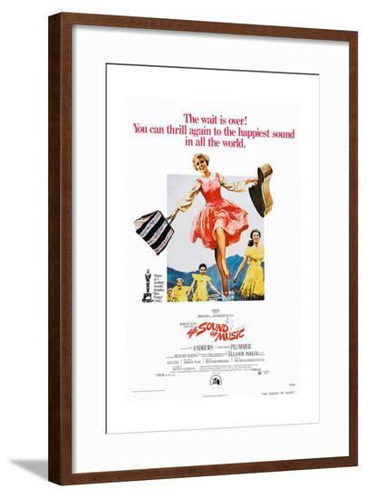 The Sound of Music, Center: Julie Andrews on 1973 Poster Art, 1965--Framed Giclee Print