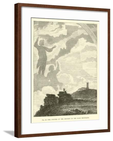 The Spectre of the Brocken in the Harz Mountains--Framed Giclee Print