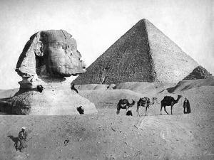 The Sphinx and Pyramid at Giza, Egypt, C1882
