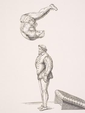 The Spring Board, Illustration from a Facsimilie of 'Excercises in Leaping and Vaulting', by A.…