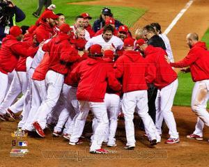 The St. Louis Cardinals Celebrate Winning Game 6 of the 2011 MLB World Series (#32)