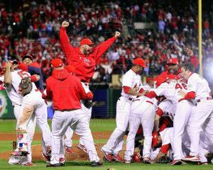The St. Louis Cardinals Celebrate Winning World Series in Game 7 of the 2011 World Series