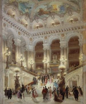 The Staircase of the Opera Garnier by Louis Beroud