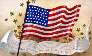 The Star Spangled Banner in Triumph Shall Wave Postcard