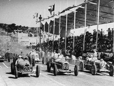 The Starting Grid for the Nice Grand Prix, 1934