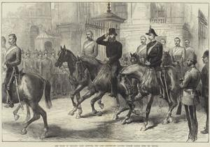 The State of Ireland, Earl Spencer, the Lord Lieutenant, Leaving Dublin Castle with His Escort