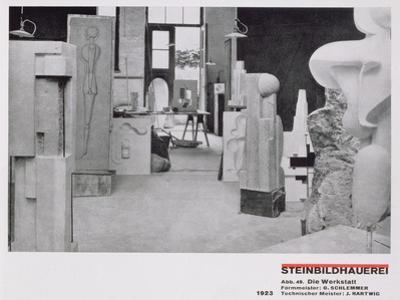 The Stone Carver's Workshop, from the Workshops of the Bauhaus, Weimar, 1923