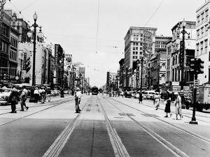 The Streetcar Tracks of Canal Street in New Orleans