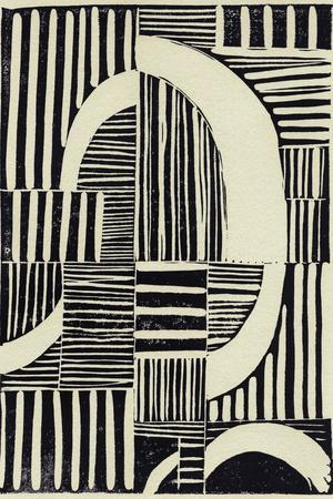 Abstract Linocut A