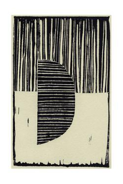 Abstract Linocut B by THE Studio