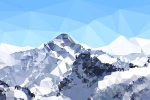 Faceted Snowy Peak by THE Studio