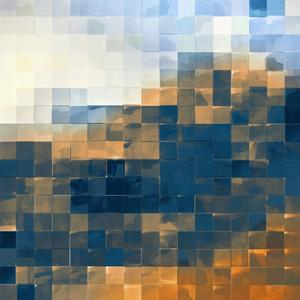 Gridded Watercolor Landscape A - Recolor by THE Studio