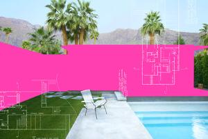 Palm Springs Color Block 1 by THE Studio