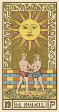 The Sun Depicted on a Tarot Card