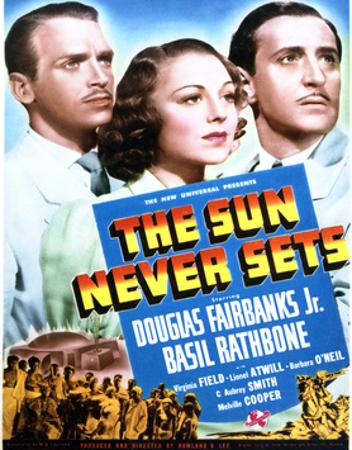 The Sun Never Sets - Movie Poster Reproduction