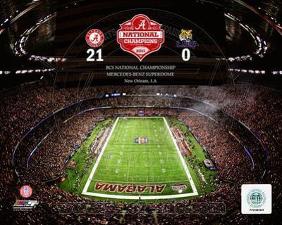 The Superdome University of Alabama Crimson Tide 2012 BCS National Champions