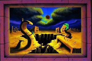 The Superficial Diversion by Vincent Monaco Blacklight Poster