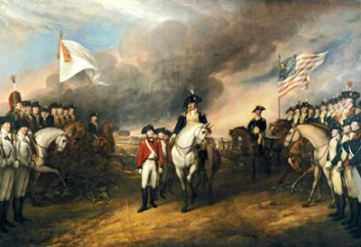 The Surrender of Lord Cornwallis Historical Art Print Poster