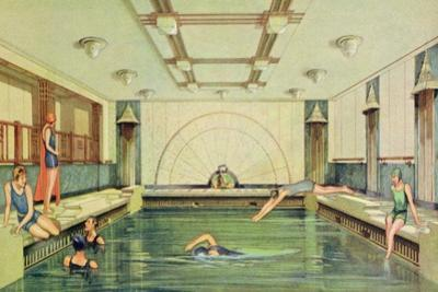 The Swimming Pool Aboard the 'Empress of Japan'