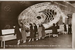 The Table of the Elements, Exhibition of Science, Festival of Britain, 1951