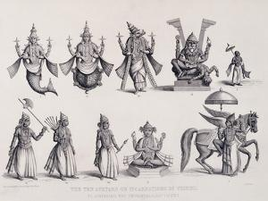 The Ten Avatars or Incarnations of Vishnu, Engraved by A. Thorn, from 'World Religion', Published…