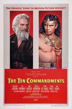 The Ten Commandments, Charlton Heston, Yul Brynner, 1956