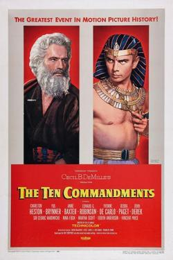 The Ten Commandments, Charlton Heston, Yul Brynner, 1956