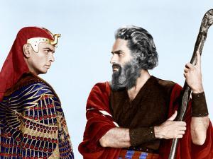 The Ten Commandments, Yul Brynner, Charlton Heston, 1956