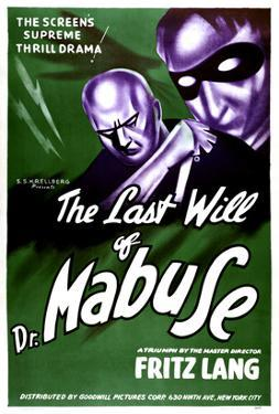 The Testament Of Dr. Mabuse, (aka Das Testament Des Dr. Mabuse), 1933