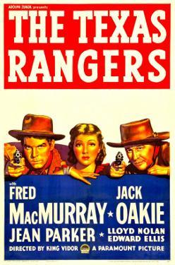 The Texas Rangers, Fred Macmurray, Jean Parker, Jack Oakie, 1936