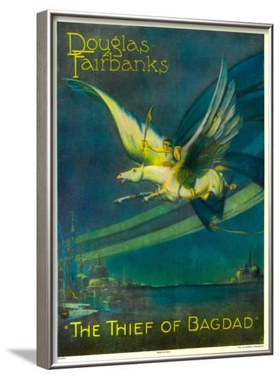 The Thief of Bagdad, Douglas Fairbanks on a Flying Horse, 1924--Framed Photo