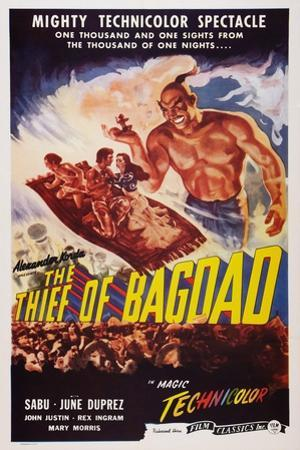 The Thief of Bagdad, Top from Left: Sabu, John Justin, June Duprez, Rex Ingram, 1940