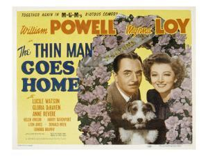 The Thin Man Goes Home, William Powell, Asta the Dog, Myrna Loy, 1944