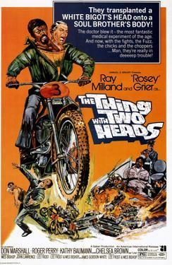 The Thing With Two Heads, Ray Milland, Rosey Grier, 1972