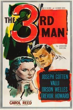The Third Man, Alida Valli, Joseph Cotten on US poster art, 1949
