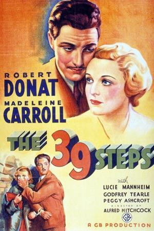 """The Thirty-nine Steps, 1935, """"The 39 Steps"""" Directed by Alfred Hitchcock"""
