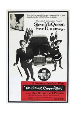 THE THOMAS CROWN AFFAIR, Australian poster, from left: Steve McQueen, Faye Dunaway, 1968