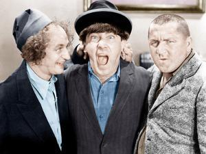 The Three Stooges, from left: Larry Fine, Moe Howard, Curly Howard, ca. 1943