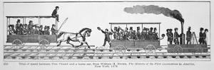 The 'Tom Thumb Locomotive' Races Against a Horse Drawn Car