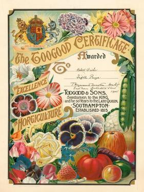 The Toogood Certificate for Excellence in Horticulture