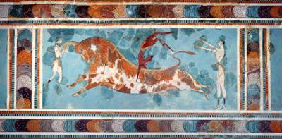 The Toreador Fresco, Knossos Palace, Crete, circa 1500 BC