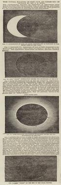 The Total Eclipse of the Sun, as Observed in Sweden by Mr J R Hind