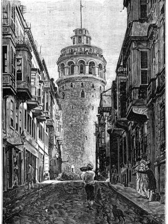 The Tower of Galata, Constantinople, 1900