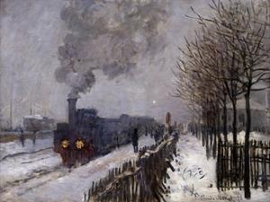 The Train in the Snow by Claude Monet